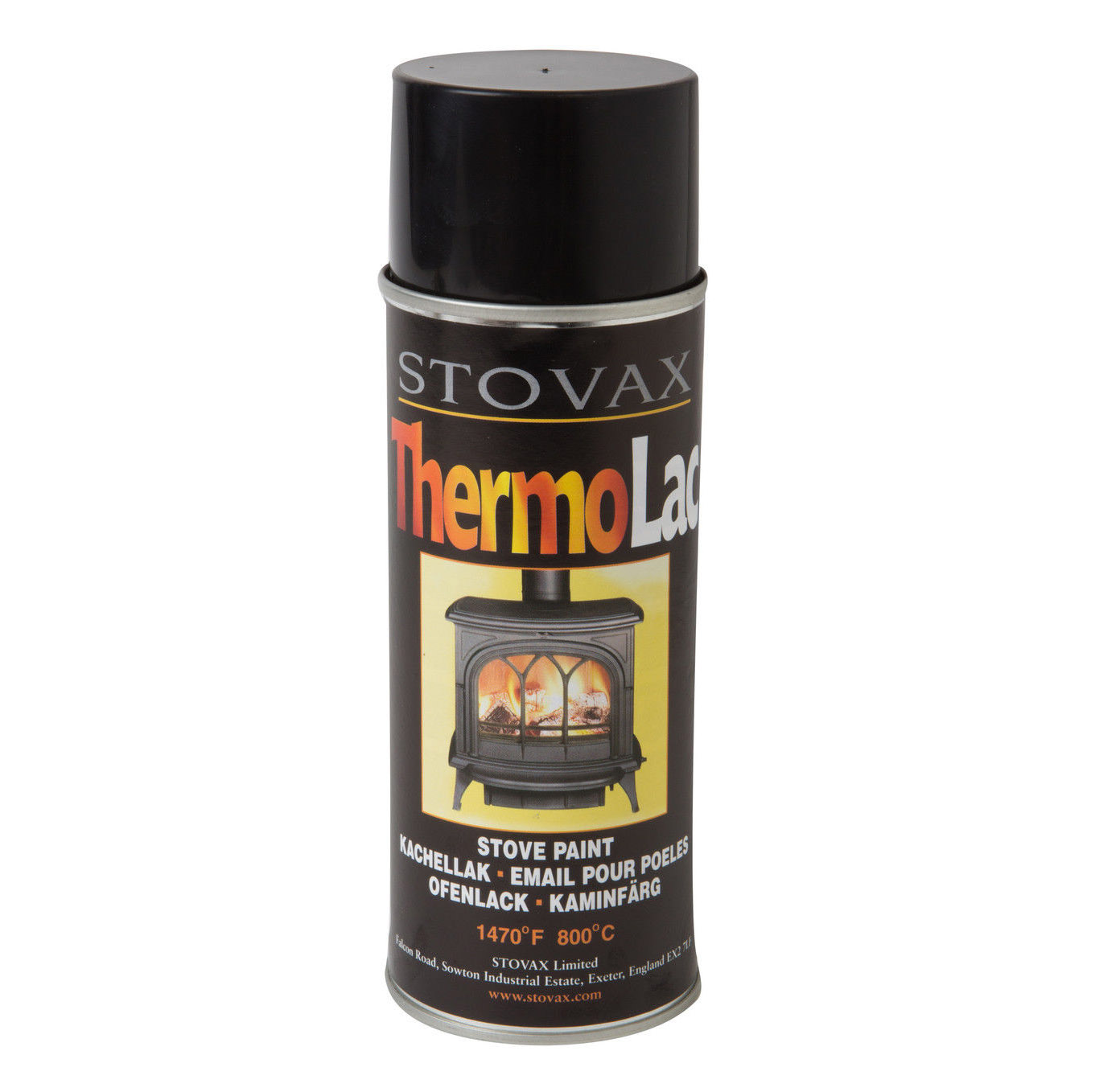 Stovax thermolac spray paint matt black suffolk stoves Black spray paint